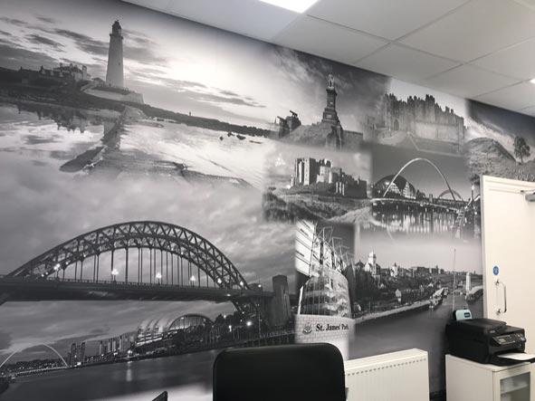 Bespoke design and print wallpaper