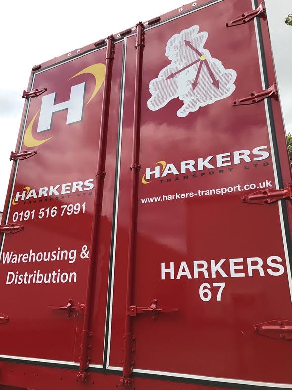 Cut Vinyls for Haulage Vehicle